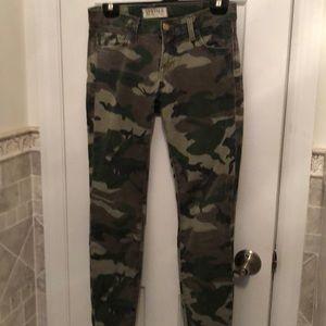textile elizabeth & james camo jeans skinny ozzy